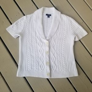 XL WHITE SWEATER  by chaps by Ralph Lauren